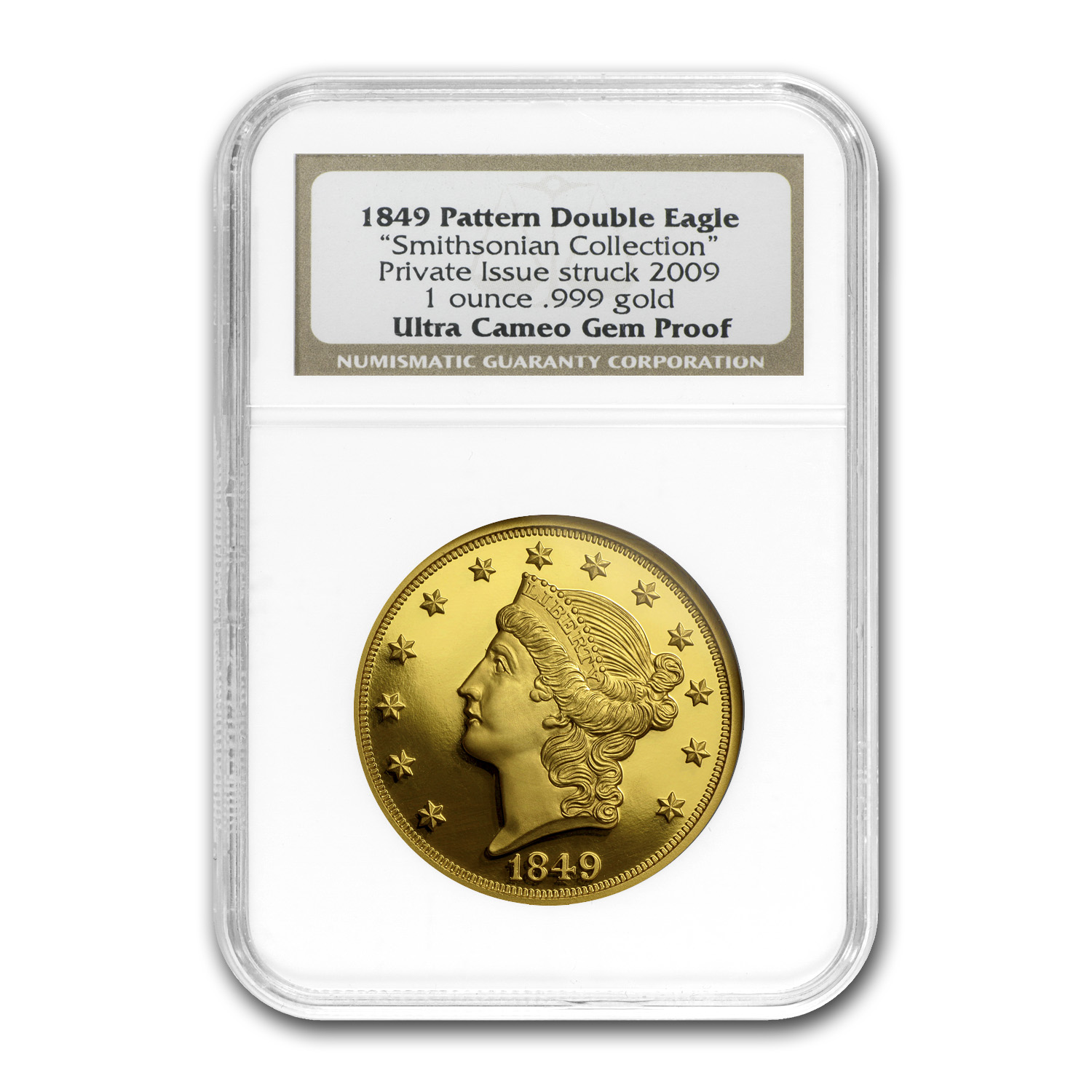 1 oz Gold Round - 1849 Pattern Double Eagle (NGC GEM Proof-UCAM)